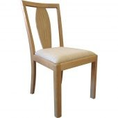 Stockholm Wooden Back Chair Fabric Seat