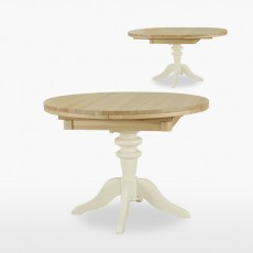Colletta Round extending single pedestal table