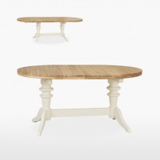 Colletta Round extending double pedestal table