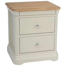 Crofton Large 2 drawer bedside table