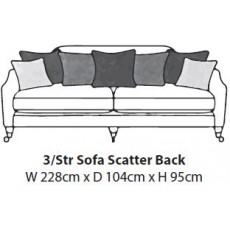 Hockley 3 Seater Sofa (2 Cushions)