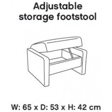 Himolla Themse Adjustable Storage Footstool