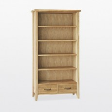 Wellington Tall 2 Drawer Bookcase