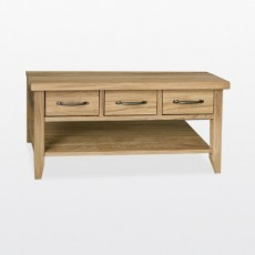 Wellington 3 Drawer Coffee Table