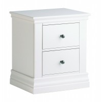 Alyssa 2 Drawer Bedside Chest - Painted Top