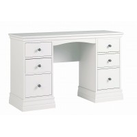Alyssa Double Pedestal Dressing Table - Painted Top