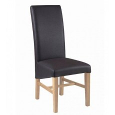 Corndell Nimbus Tuscany Dark Brown Faux Leather Dining Chair