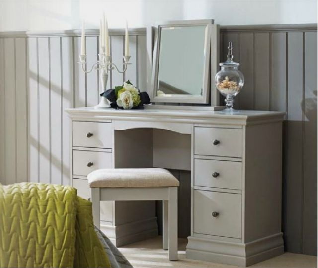 Alyssa Dressing Table with Mirror - Painted Top